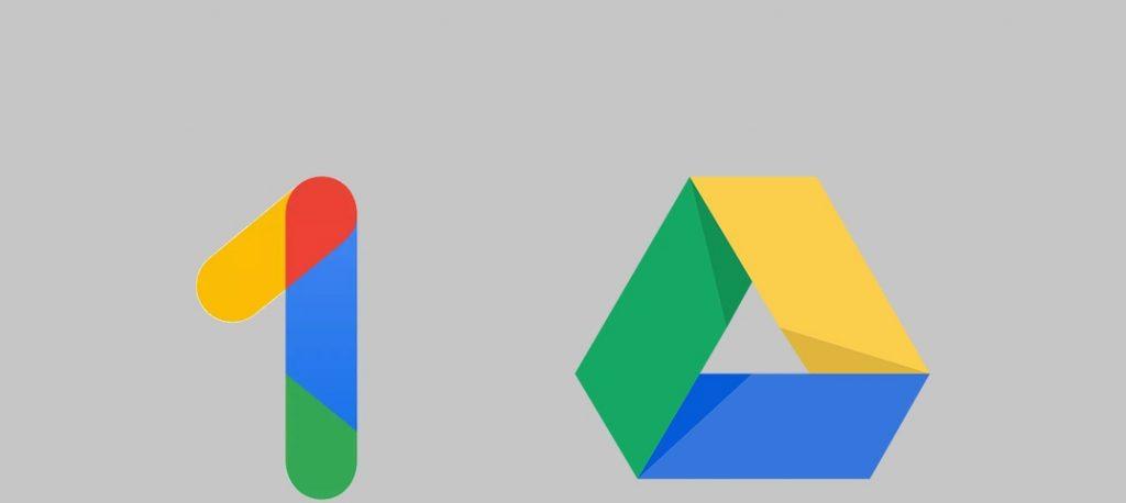 1 место - Google Диск/Google One