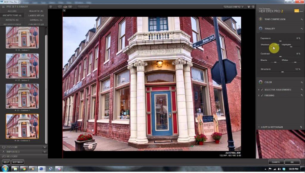 Photoshop с плагином HDR Efex Pro